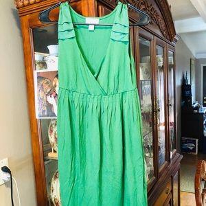 Ann Taylor Loft Green Midi Skirt NWOT SZ SMALL